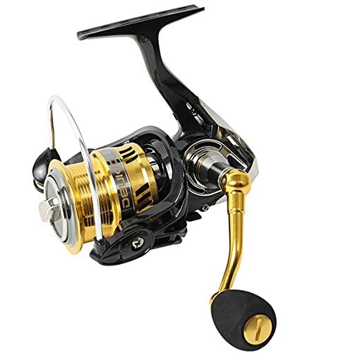 CH-BZ Pesca de Hilado Carrete Ligero 6.7: 1 Relación de Engranajes de Alta Velocidad Pesca de Giro Ligero para el río Lago Pesca de mar Pesca de Agua Salada,Dw2000 Separate Wire Cup