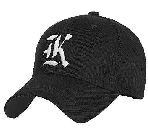 Bonnet Chapeau Casquette Snapback Baseball Alphabet Gothique letters A-Z Hip-Hop Snap Back (K)