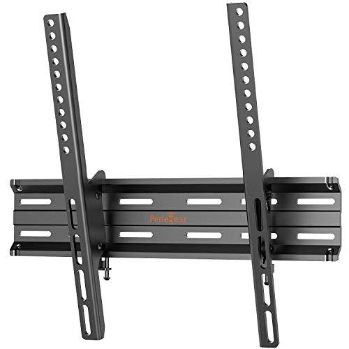 Perlegear TV Wandhalterung, Neigbare Fernseher Halterung für 26-55 Zoll Flach&Curved TV bis zu 45kg Max.VESA 400x400mm