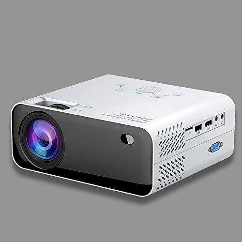 LITINGT Proyector, proyector Inteligente Compatible con teléfono móvil Proyector de Alta definición 1080P para el hogar, Compatible con TV de Pantalla Plana para teléfono móvil