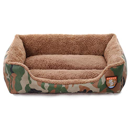 Self-Warming Bed for Small Medium Dog Cat Winter Plush Rectangle Washable Kennels Waterproof Pet Sofa Lounger Bed