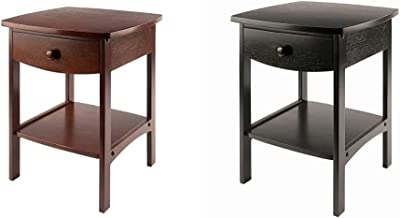 Winsome Wood Claire Accent Table, Walnut & Wood Claire Accent Table, Black