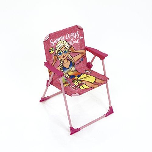 Barbie Klappstuhl für Kinder, Lizenzprodukt Metall und Stoff, Maße: 38 x 32 x 53 cm, 38 x 32 x 53 cm