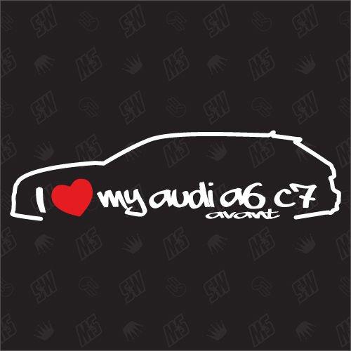 J'aime ma A6C7Avant Station Wagon-Sticker Compatible avec Audi - Année 2010