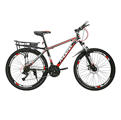 Mountain Bike, Road Bike, 24-inch Wheels, 24-Speed, High-Carbon Steel Frame, Line Disc Brake and Double Shock-Absorbing Bike, Available for Men and Women/A/As Shown