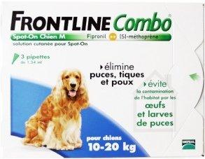 FRONTLINE - P04275835 - COMBO CHIEN M ANTI-PUCES ET TIQUES - 3 PIPETTES