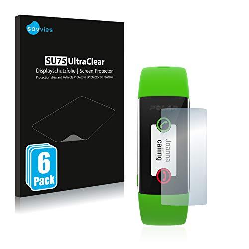 Savvies 6X Schutzfolie kompatibel mit Polar A360 Bildschirmschutz-Folie Ultra-transparent