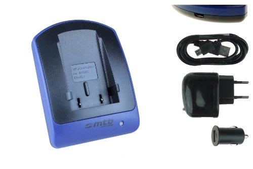 Ladegerät (USB, KFZ, Netz) für EN-EL1 / Nikon Coolpix 4300 5000 5400 5700 8700. / Konica Minolta Dimage A200 - s. Liste