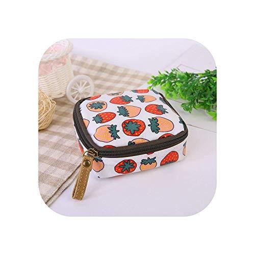 ZWWZ Cosmetic Bag Travel Cartoon Organisator-Geldbeutel-Halter Serviette Tuch-Speicher-Beutel-kosmetische Beutel-Kasten-Beutel-Kopfhörer-Kasten-Kasten-Enten HAIKE (Color : Strawberry, Size : Size)