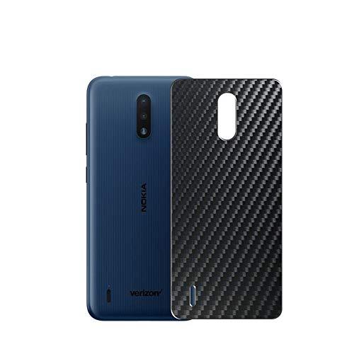 VacFun 2 Piezas Protector de pantalla Posterior, compatible con Nokia 2 V Tella / 2V Tella, Película de Trasera de Fibra de carbono negra