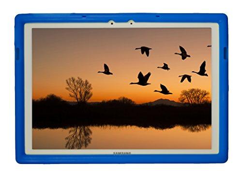 BobjGear Bobj Silikon-Hulle Heavy Duty Tasche für Samsung Galaxy TabPro S 12 (SM-W700) Schutzhulle (Blau)