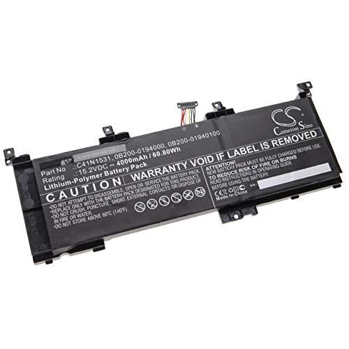 vhbw Akku kompatibel mit Asus ROG Strix GL502VSK, GL502VY-1A, GL502VY-DS71, GL502VY-DS74 Notebook (4000mAh, 15,2V, Li-Polymer)