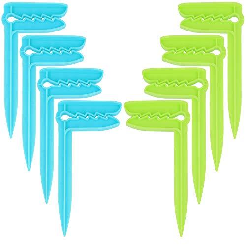com-four® 8X Strand Handtuch Clips - Handtuchklammern zum Befestigen - Ideal für Strand, Reisen, Camping oder Picknick (08 Stück - Hering)