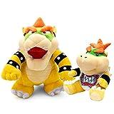 AYQX Super Mario Bros Peluches 18-24cm Decoración de Cama Almohada para niños niños Decoración para el hogar Muñeca 24cm Bowser y 18cm