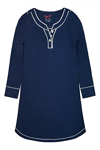 La-V Mädchen Nachthemd Dunkelblau Lang/Größe 164/170