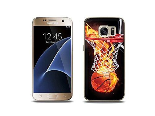 etuo Handyhülle für Samsung Galaxy S7 - Hülle Foto Case - Zeit für Basketball - Handyhülle Schutzhülle Etui Case Cover Tasche für Handy
