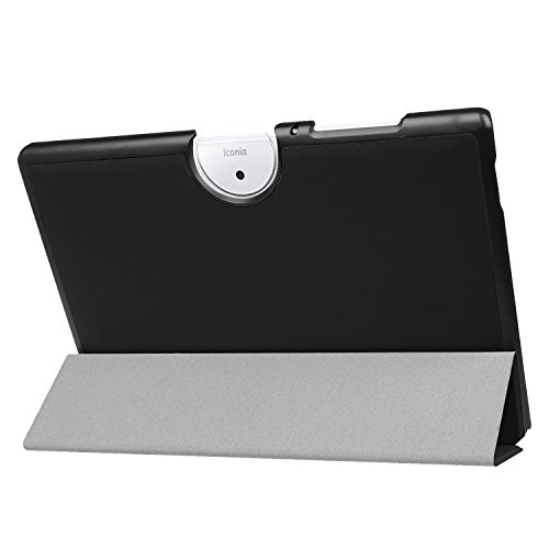 Kepuch Custer Coque pour Acer Iconia One 10 B3-A40,PU-Cuir Étui Housse pour Acer Iconia One 10 B3-A40 - Noir