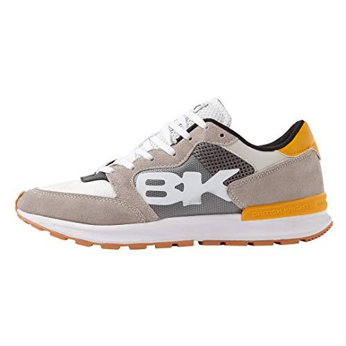 British Knights Damen Impact Sneaker, Hellgrau Dunkelgrau Ocker, 45 EU