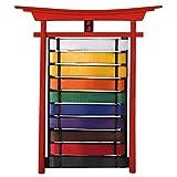 AMAIRS Tabellone per Cintura, 10 Espositore in Legno da Appendere alla Cintura Decorazione Personalizzata in Stile Cinese Taekwondo | Karate | Espositore per Risultati di Judo