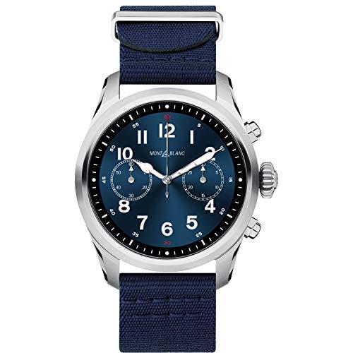 Reloj Montblanc Summit 2 Smartwatch 119561 Acero Inoxidable Nylon Azul