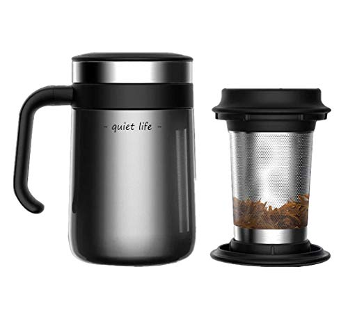 Stainless Steel Insulated Tea Mug with Infuser and Lid for Loose Tea 162 Ounces Office Home  High-end Tea Cup