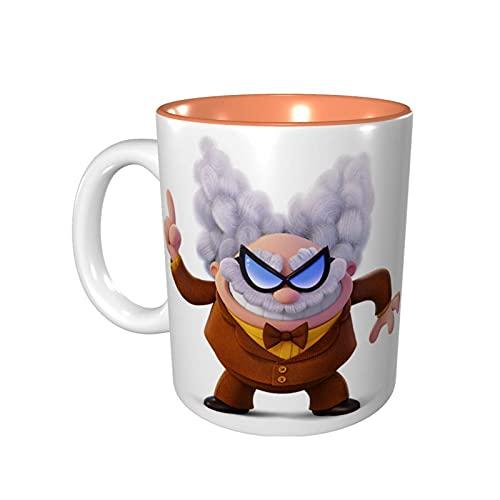 Hdadwy Taza de café divertida de 11 onzas Captain Under-Pants Taza de Melvin Taza de té Taza de té Apto para microondas Naranja