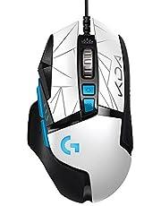 Logitech G502 HERO K/DA Mouse Gaming Cablato Alte Prestazioni, Sensore HERO 25K, LIGHTSYNC RGB, Pesi Regolabili, Tasti programmabili, Attrezzatura ufficiale League of Legends, Bianco