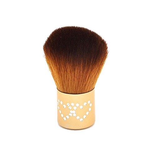Gespout Pinceau de Maquillage Professionnel pour Visage Or Nylon Poignée en Aluminium Fond de Teint Poudre Blush Style 2