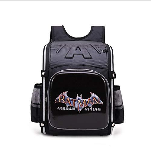 ZHAOYONGBING Children Backpack,cartoon, student backpack, personalized, waterproof, breathable, wear-resistant, anti-theft, anti-burden, shockproof, children s backpack. Batman