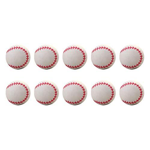 VORCOOL 20Pcs Bounce Balls Patrón de béisbol Bolas hinchables Bolas de Salto Creativas Outdoor Props