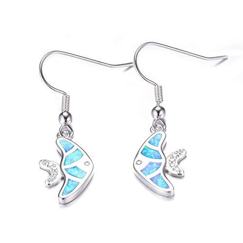 New European and American kiss pair fish-shaped Opal earrings, high-end earrings, creative earrings, earrings, platinum earrings