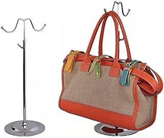 DANALLAN Metal Handbag Rack Women Bag Display Stand Double Hook Adjustable Stainless Steel Holder