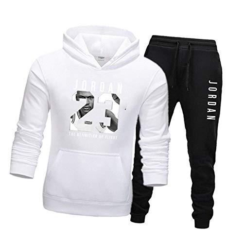 Chándal para hombre 23 # Jordann, chándal de invierno, 2 unidades, gimnasio, baloncesto, ropa deportiva de terciopelo, pantalones informales, 11-XL