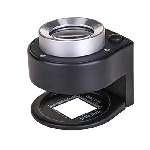 Brand Magnifier Loupe JFW-Scale 30x HD Optical Glass Lens Loupe pour Textile, Loupe avec Lampes LED et Lampe UV