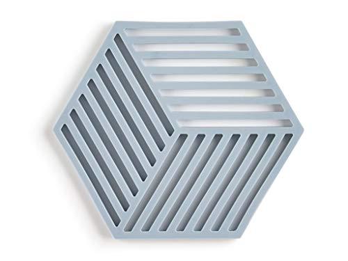 Zone Denmark Hexagon - Sottovaso in silicone, 16 x 14 cm, colore: Azzurro