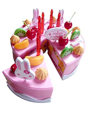 Seruna A142 Spielzeug-Torten Set, Geburtstags-Kuchen für Kinder-Küche Geschenk-Idee Weihnacht-en Geburtstags-Geschenk