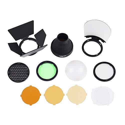 Godox AK-R1 Dome Difusora Kit de Accesorios para Godox V1 Flash para el Anillo Godox H200R Accesorios Godox AD200 AD200Pro con Puerto magnético Fácil de Usar