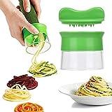 Atrumly Rallador de verduras, cortador en espiral de mano, cortador de verduras en espiral, rallador de cocina duradero, cortador en espiral para frutas, verduras como productos de cocina