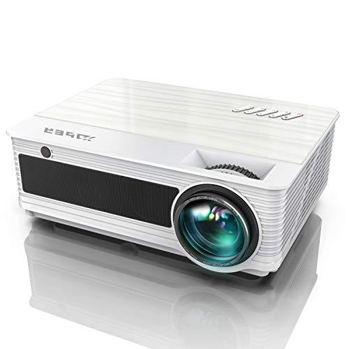 "Proyector de Video, YABER 6200 lúmenes Nativo Full HD 1080P Proyector de Video Soporte 4K, 78,000 H 300 ""LED Home Theater y Home Work PPT Presentación Compatible con Chromecast HDMI AV USB VGA"