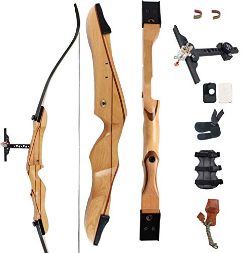SinoArt 68' Takedown Recurve Bow Adult Archery Competition Athletic Bow Weights 18 20 22 24 26 28 30 32 34 36 LB Right Handed Archery Kit (Right Hand 36 LB)