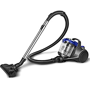 Eureka Swan SC15816N, Multi Force Pet Bagless Cylinder Vacuum, Anti-allergen HEPA Filter, Multi-cyclonic Technology with No Loss of Suction,