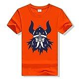 Serired Mitología Nórdica Viking Warrior Tatoos Odin Camiseta Manga Corta para Hombre/Mujer, Disponible En Múltiples Colores,Naranja,S