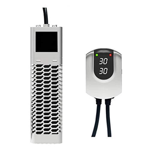 ZDY Calentador de Acuario de Peces con Alarma Sonora, termostato automático Conversión de frecuencia Ahorro de energía, Calentador Sumergible con Pantalla LED Digital con Controlador Externo.
