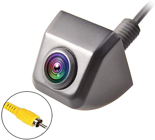Backup Rear View Camera, EWAY Waterproof Mini Universal Night Vision 150° Metal Body Reverse Car Backup Cameras for Tailgate Handle/License Plate fits Pickup SUV RV Van(Selectable Image & Guideline)