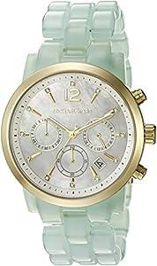Michael Kors Women's Audrina Acetate and Gold-Tone Watch MK6311