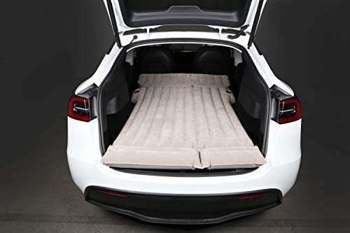 Nadmuchiwany samochodowy materac powietrzny z pompą, materac podróżny, dmuchane łóżko kompaktowe na kemping, wakacje, dwuosobowe, do ciężarówki, SUV, do Tesla Model 3 model Y, model X model S, 5-7 siedzeń, samochód