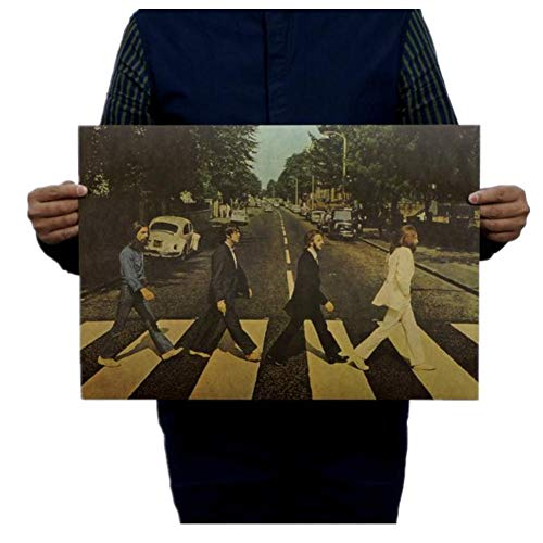 shuxuanltd Poster Vintage Vintage Poster Retro Poster Film Poster Poster Filmposter Beatles Typ A/Nostalgie/Altes Plakat/Dekoratives Gemälde Von Kraft Bar 02