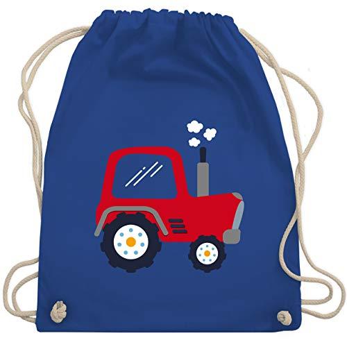 Shirtracer Fahrzeuge Kind - Kinder Traktor - Unisize - Royalblau - sportbeutel traktor - WM110 - Turnbeutel und Stoffbeutel aus Baumwolle