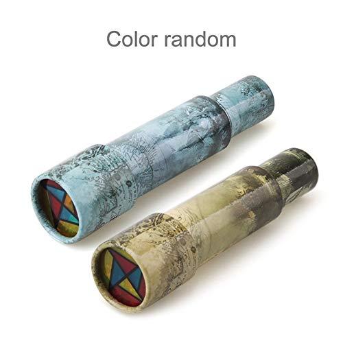 N / E Magisches Kunststoff-Kaleidoskop für Kinder, Lernspielzeug, ausgefallene bunte Welt, Baby-Jungen und Mädchen, zufällige Farbauswahl