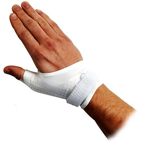 Body Medics passgenaue Daumenorthese Hartschale, unterstützt bei Verstauchung des Daumens, Bandage, groß, rechte Hand,18–20cm Handgelenksumfang